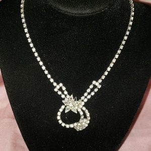 Jewelry - Rare 1940's rhinestone necklace